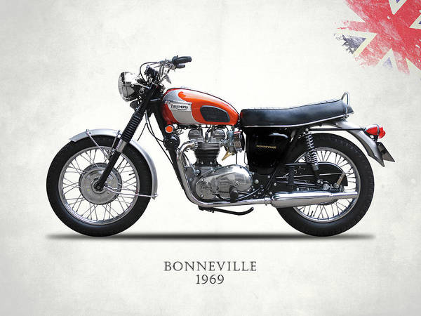 Wall Art - Photograph - The 1969 Bonneville by Mark Rogan