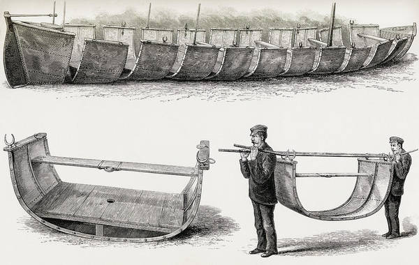 Steel Drawing - The 28-foot Steel Boat Advance by Vintage Design Pics