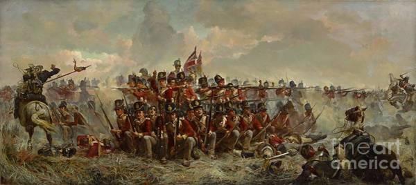 Painting - The 28th Regiment At Quatre Bras by Elizabeth Butler