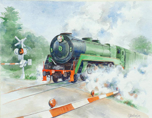 Wall Art - Painting - The 3830 At Robertson by Ekaterina Mortensen