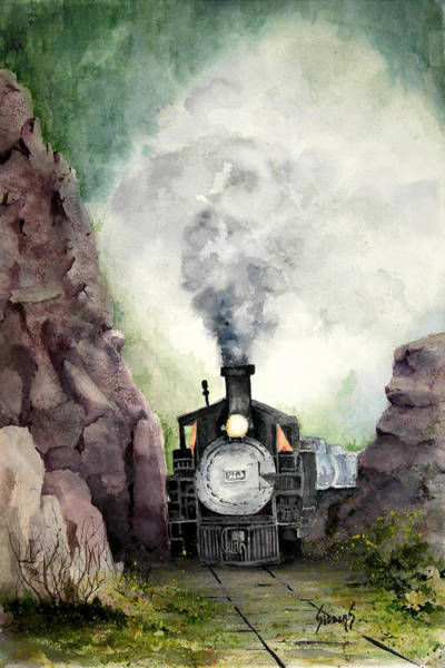 Trains Painting - The 413 by Sam Sidders