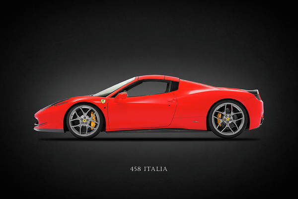 Wall Art - Photograph - The 458 Italia by Mark Rogan