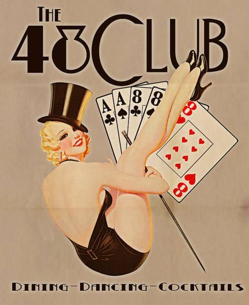 Tampa Digital Art - The 48 Club by Cinema Photography