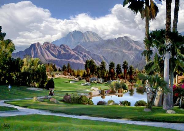 Desert Rose Painting - The 5th At Woodhaven by Ron Chambers