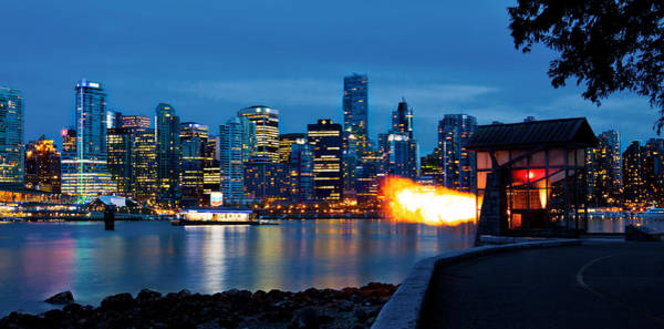 Photograph - The 9 O'clock Gun In Vancouver by Alexis Birkill