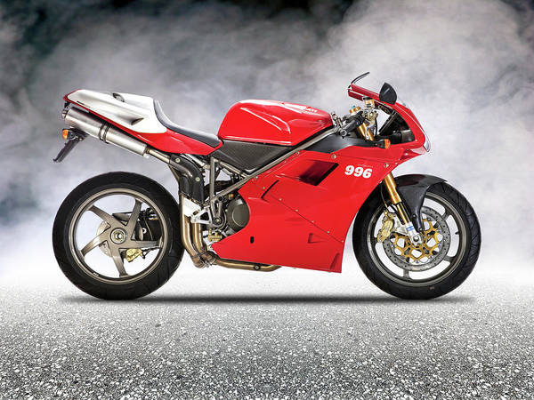Ducati Bike Photograph - The 996 Sps by Mark Rogan