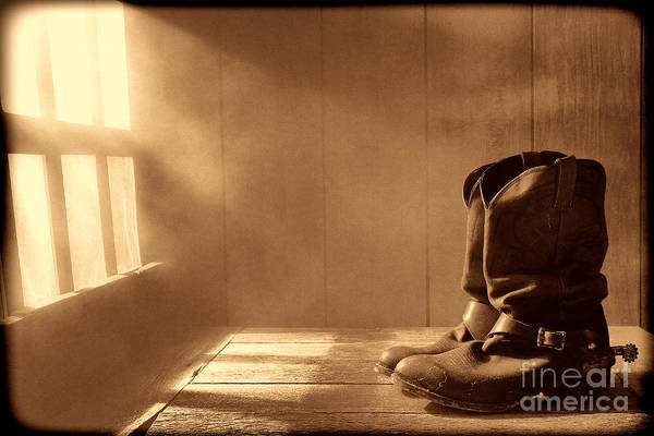 Photograph - The Abandoned Boots  by American West Legend By Olivier Le Queinec