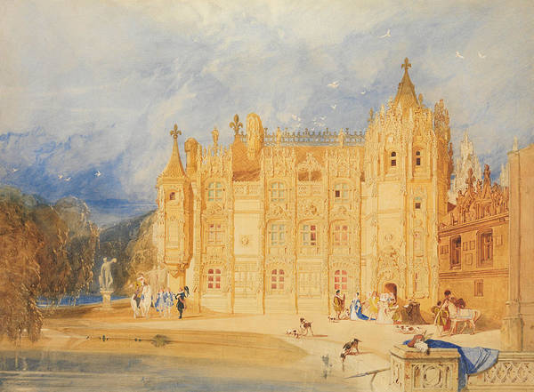 Drawing - The Abbatial House, Abbey Of St. Ouen, Rouen by John Sell Cotman