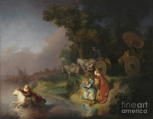 Dali Painting - The Abduction Of Europa By Rembrandt Harmensz. Van Rijn by Esoterica Art Agency