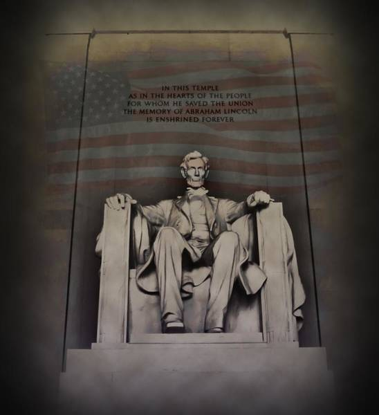 Wall Art - Photograph - The Abraham Lincoln Memorial by Bill Cannon
