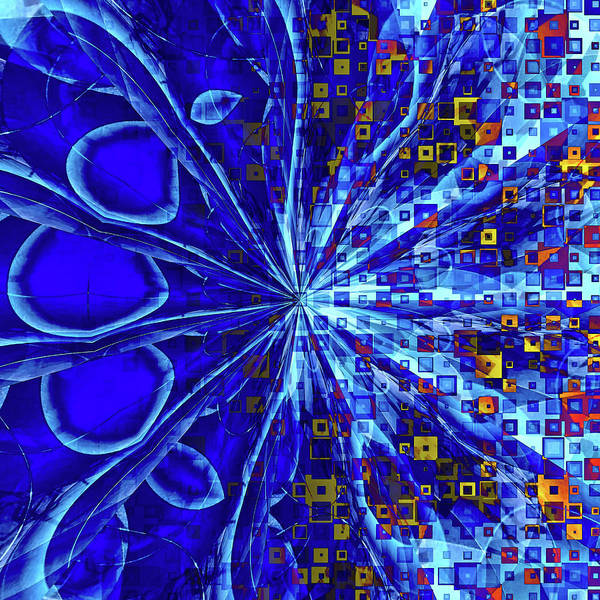 Digital Art - The Abstract Peacock by Susan Maxwell Schmidt