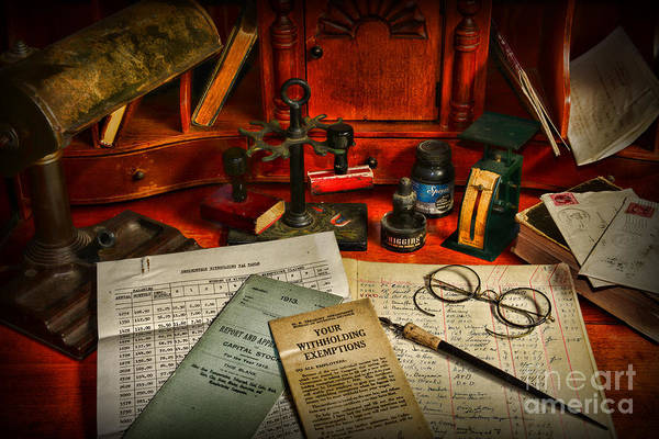 Bookkeeper Photograph - The Accountant by Paul Ward