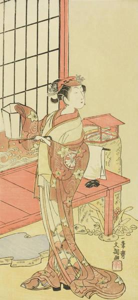 Kabuki Painting - The Actor Segawa Kikunojo II, Possibly As Princess Ayaori In The Play Ima O Sakari Suehiro Genji  by Ippitsusai Buncho