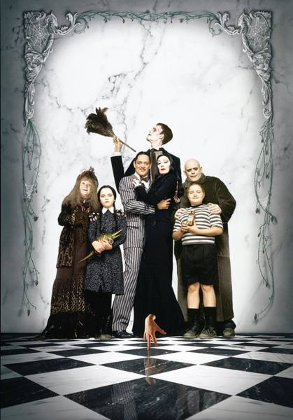 Wall Art - Digital Art - The Addams Family 1991 by Geek N Rock
