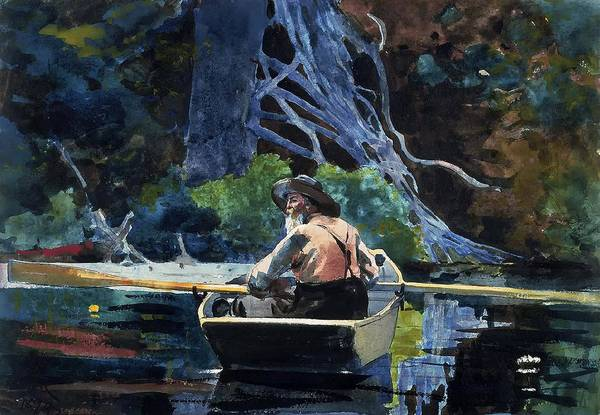 Adirondack Mountains Painting - The Adirondack Guide by Mountain Dreams