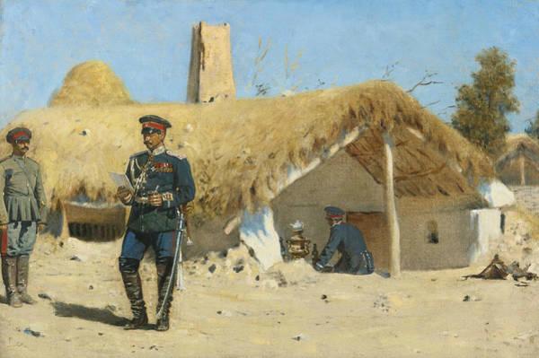 Painting - The Adjutant by Vasily Vereshchagin
