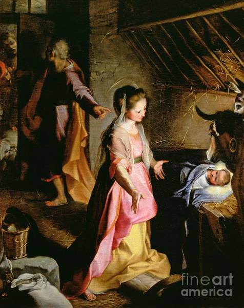Wise Wall Art - Painting - The Adoration Of The Child by Federico Fiori Barocci or Baroccio