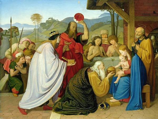 Wall Art - Painting - The Adoration Of The Kings by Bridgeman