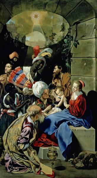 Wall Art - Painting - The Adoration Of The Kings by Fray Juan Batista Maino