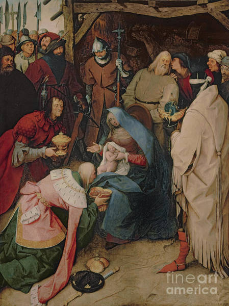 Wall Art - Painting - The Adoration Of The Kings by Pieter the Elder Bruegel