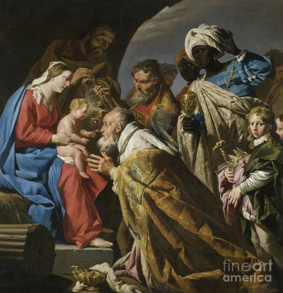 Wall Art - Painting - The Adoration Of The Magi Circa 1630 by Matthias Stomer
