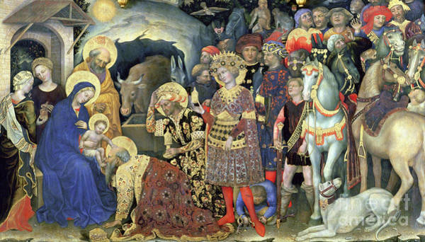Wall Art - Painting - The Adoration Of The Magi by Gentile da Fabriano