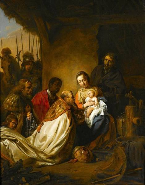 Wall Art - Painting - The Adoration Of The Magi by Jan de Bray