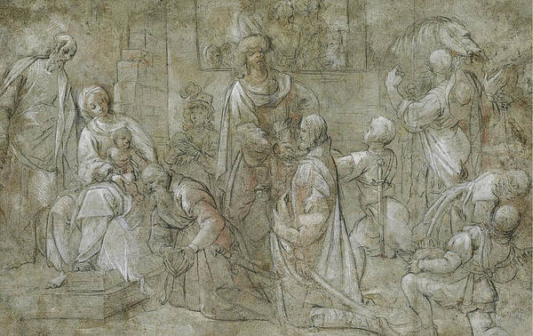 Pier Drawing - The Adoration Of The Magi by Pier Francesco Mazzucchelli