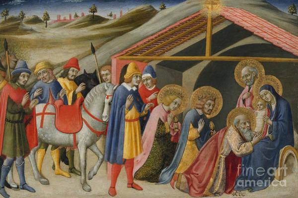 Bethlehem Wall Art - Painting - The Adoration Of The Magi by Sano di Pietro or Ansano di Pietro di Mencio
