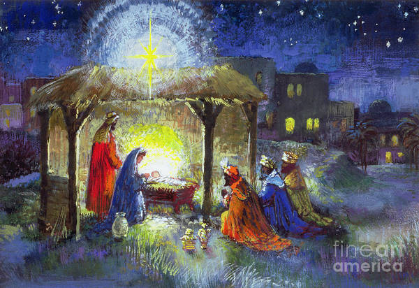 Star Of Bethlehem Painting - The Adoration Of The Magi  by Stanley Cooke
