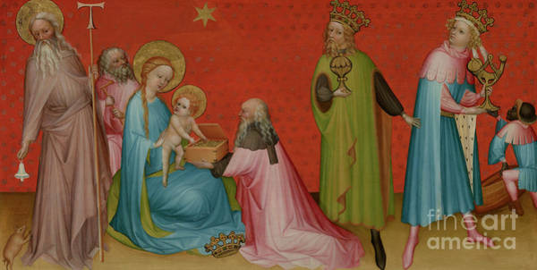 Wall Art - Painting - The Adoration Of The Magi With Saint Anthony Abbot by Franco-Flemish School