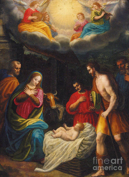 Wall Art - Painting - The Adoration Of The Shepherds  by Giovanni Balducci