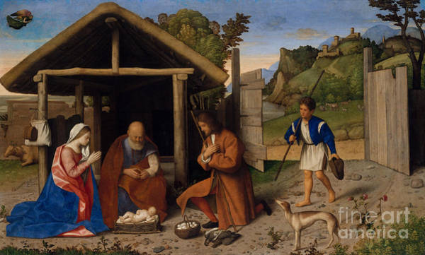 Wall Art - Painting - The Adoration Of The Shepherds by Vincenzo di Biagio Catena