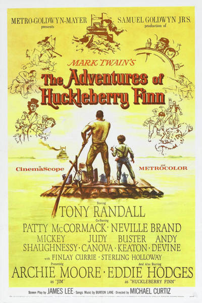 Mixed Media - The Adventures Of Huckleberry Finn 1960 by Movie Poster Prints