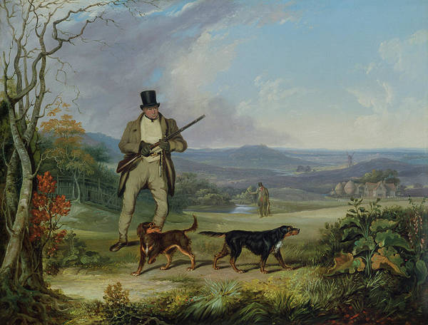 Field Spaniel Painting - The Afternoon Shoot   by Philip Reinagle