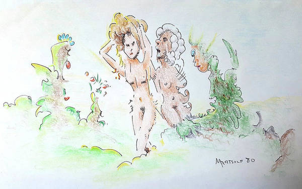 Drawing - The Age Of Beauty by Dave Martsolf