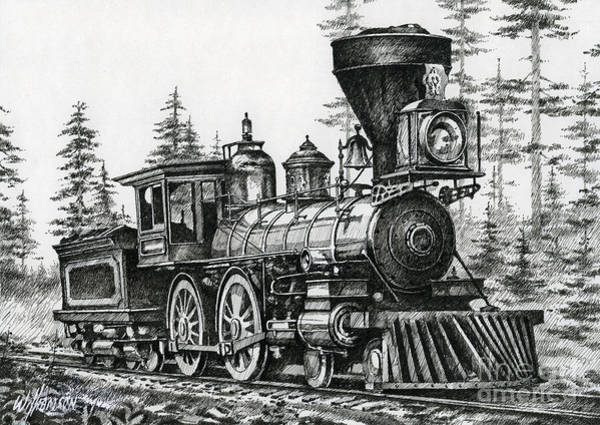 Iron Drawing - The Age Of Steam by James Williamson