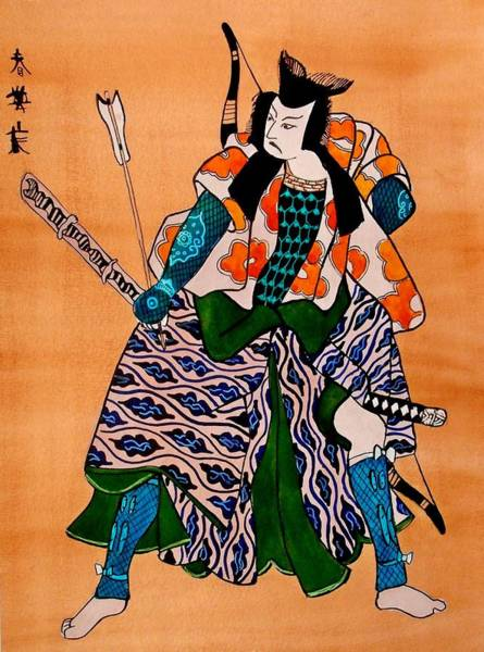 Painting - The Age Of The Samurai 08 by Dora Hathazi Mendes