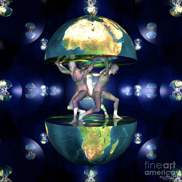 Digital Art - The Age Of Transhumanism by Walter Neal
