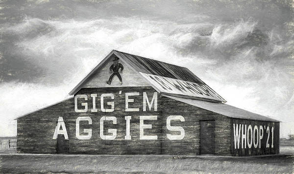 Wall Art - Digital Art - The Aggie Barn by JC Findley