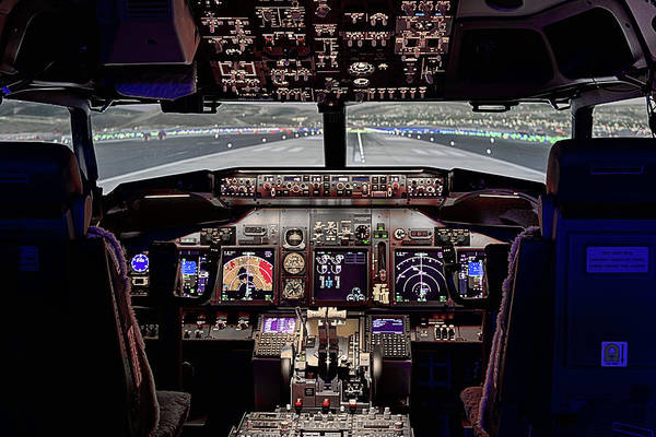 Flight Deck Photograph - The Airline Pilot Office by JC Findley