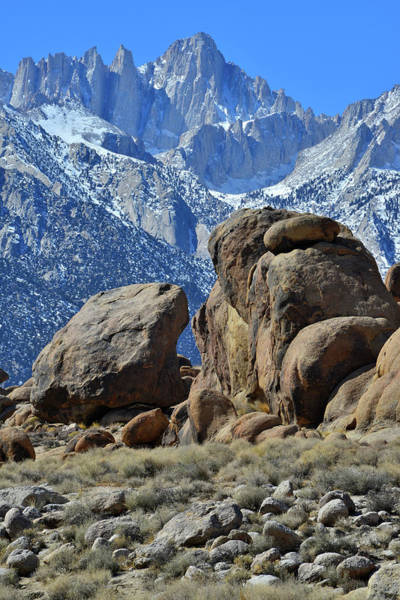 Photograph - The Alabama Hills And Mt. Whitney by Ray Mathis