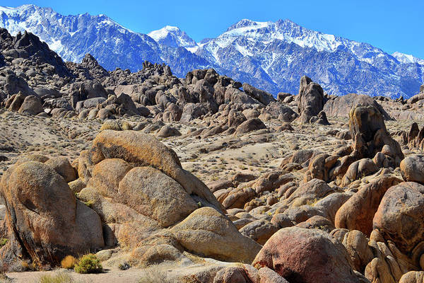 Photograph - The Alabama Hills Frame The Eastern Sierra Mountains by Ray Mathis