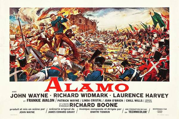 Mixed Media - The Alamo 1960 by Movie Poster Prints