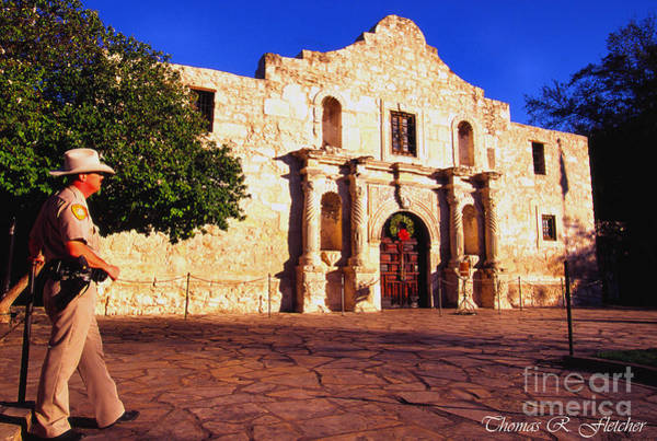 Photograph - The Alamo And Ranger by Thomas R Fletcher