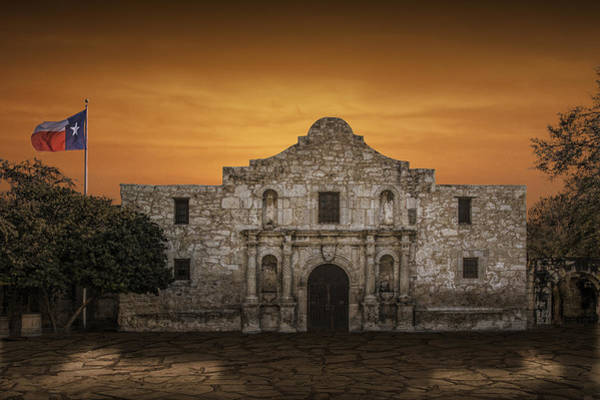 San Antonio Photograph - The Alamo Mission In San Antonio by Randall Nyhof