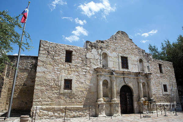 Photograph - The Alamo Texas by Steven Frame