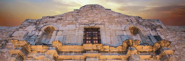 Photograph - The Alamo Under Fire Panoramic - San Antonio Texas by Gregory Ballos