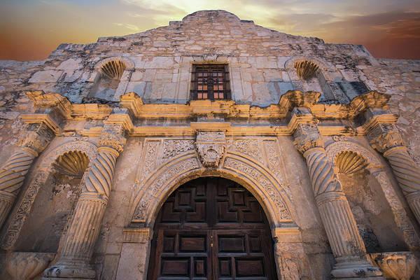 Photograph - The Alamo Under Fire - San Antonio Texas by Gregory Ballos