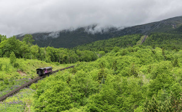 Photograph - The Algonquin Climbs The Mount Washington Cog Railway by Brian MacLean